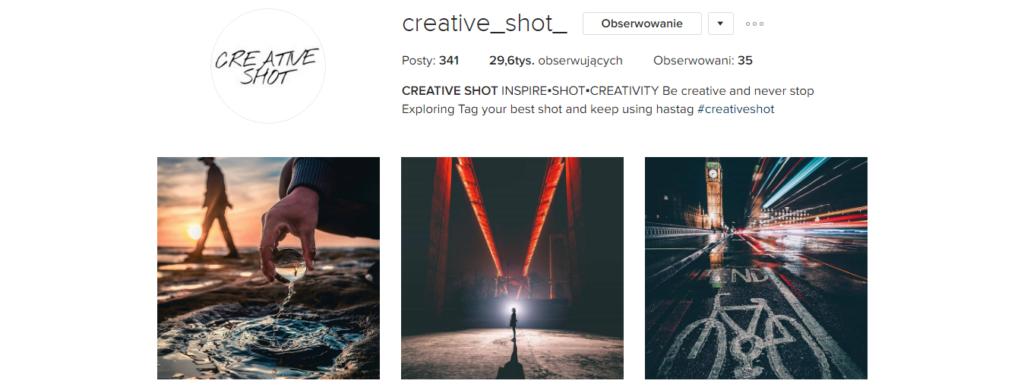 Sobotnia polecajka .2 - Creative Shot, Instagram | My small big creation