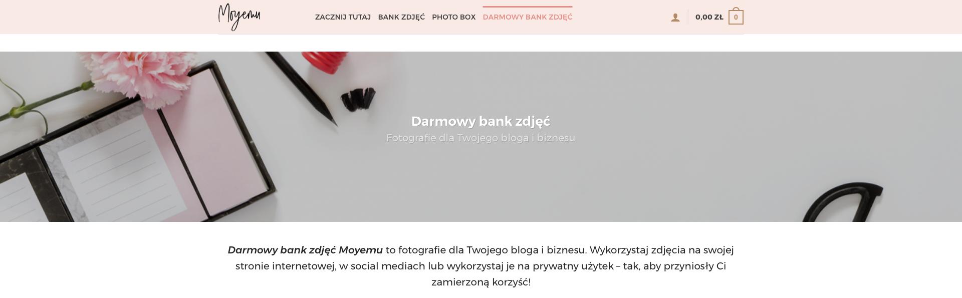 Poradnik: Jak wykorzystać zdjęcia z banku zdjęć Moyemu?