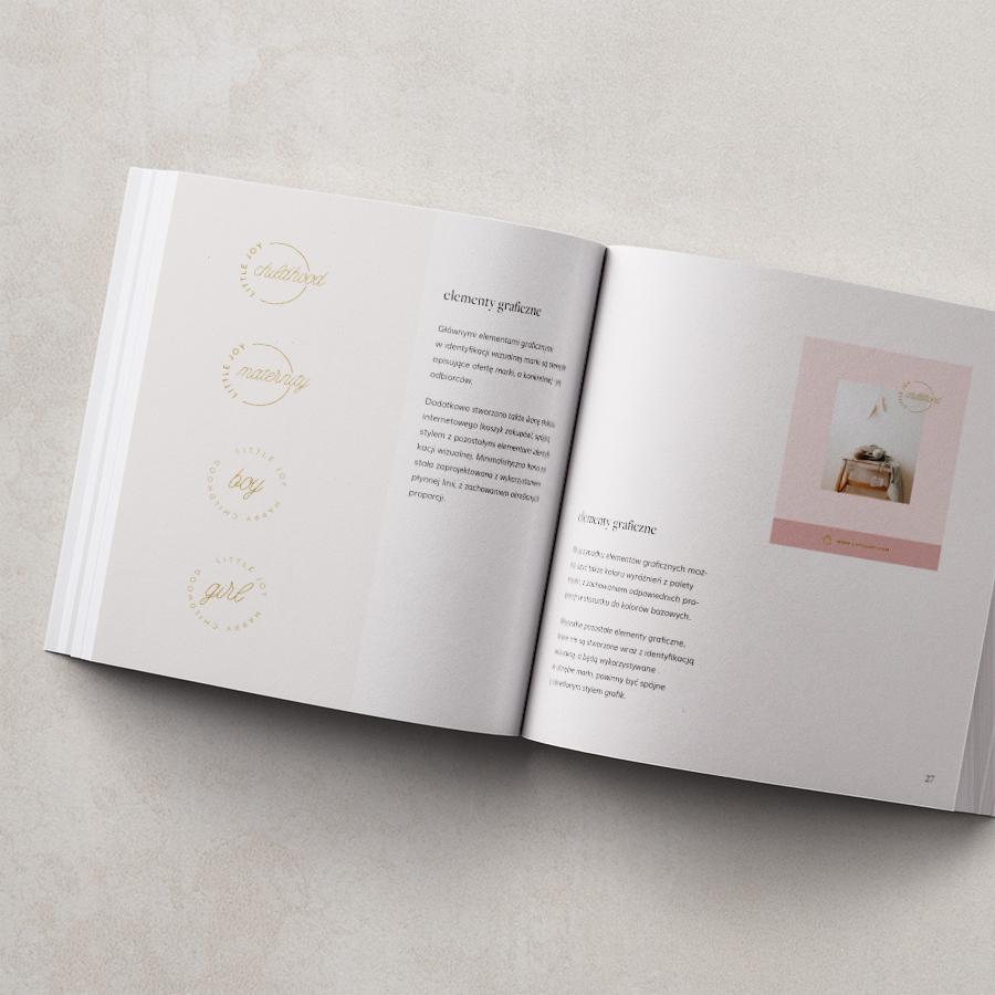 Księga identyfikacji wizualnej | Brand book Little joy | Moyemu Portfolio