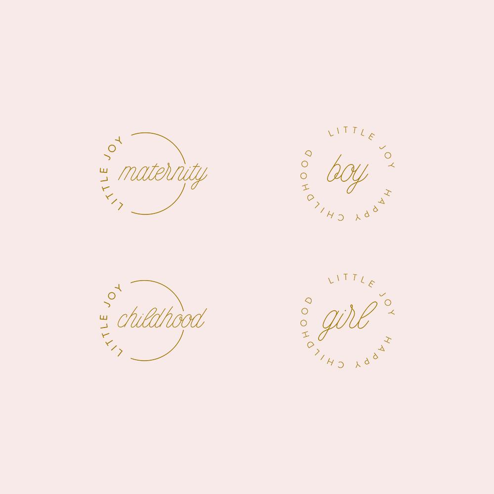 Stemple, elementy graficzne | Little Joy identyfikacja wizualna | Moyemu portfolio