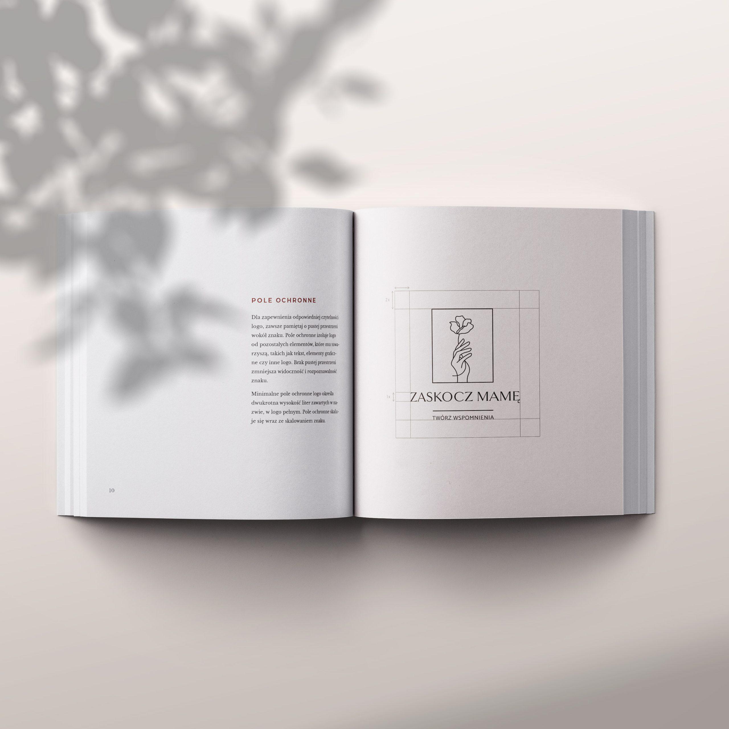 Księga identyfikacji wizualnej Zaskocz Mamę | Moyemu portfolio