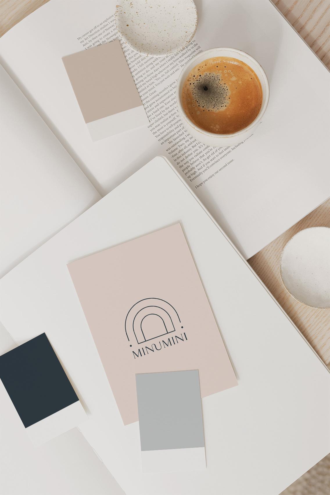 Portfolio Moyemu - logo identyfikacja wizualna Minumini